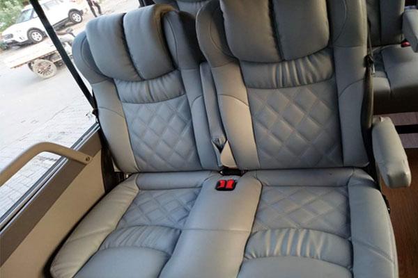 Toyota Coaster Imported Big Seats Modified Minibus - Van Hire Delhi