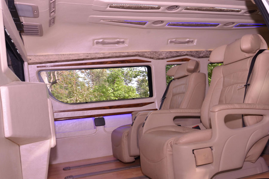 Toyota Commuter Grand Hiace 5 Seater Luxury Van Hire Delhi