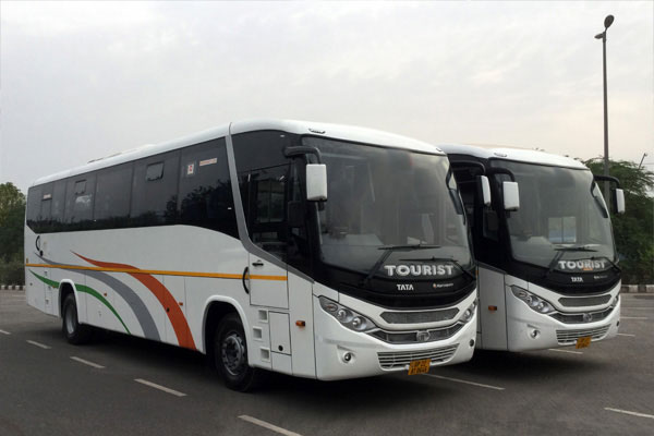 43 Seater luxury tata bus - bus rental company - car rental delhi
