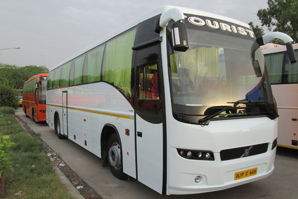 45 Seater tourist ac luxury volvo coach - bus rental company - car rental delhi