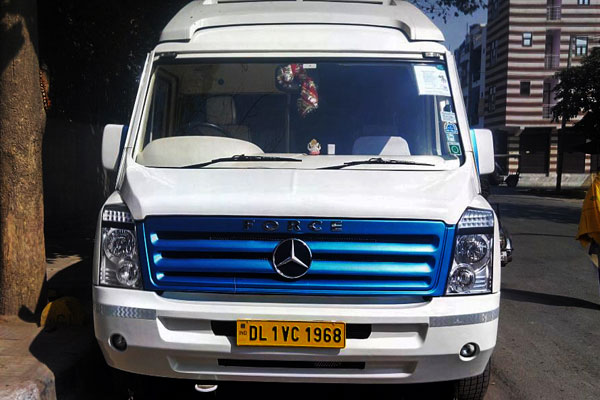 12 Seater Mercedes Force Joint Venture Ultra Luxury Coach - Imported Luxury Vans Rental Company - Car Rental Delhi
